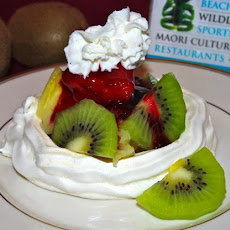 Australian Pavlovas With Fresh Berries and Strawberry Puree