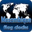 Mozambique flag clocks icon