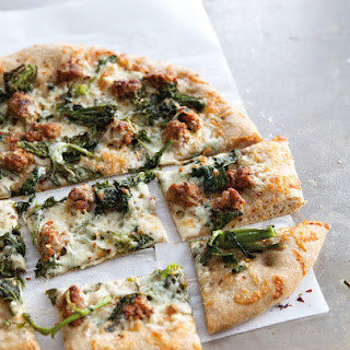 Whole-Wheat Pizza with Broccoli Rabe & Turkey Sausage