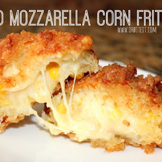 ~Fried Mozzarella Corn Fritters!