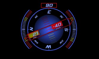 Screenshot of Inclinometer (+Compass)