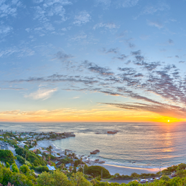Cape Town Sunset by Ryan Torres - Landscapes Cloud Formations ( devils peak, twelve appostles, beach, cityscape, travel, hiking, city, nature, tree, capetown, flower, tourism, sunset landscape, cape town, tourist, vacation, bay, town, day, panoramic, reflection, sunset sky, cape, cable car, south africa, ocean, landscape, coastline, coast, panorama, lions head, lights, mountains, tablemountain, africa, rocks, banner, water, waves, beautiful, signal hill, sea, table mountain, camps bay, sunset, background, summer, cloud, night, sunrise )