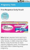 Screenshot of Pregnancy Tests & Tips