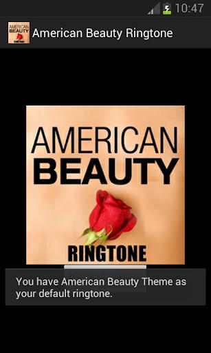 American Beauty Ringtone - screenshot