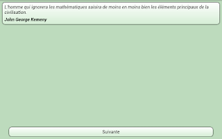 Screenshot of Citations Mathématiques