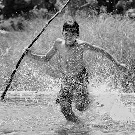 Spear Kid by Armi Sulthon Fauzi - People Portraits of Men