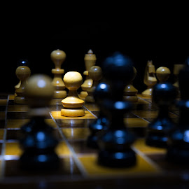 Chess by Marcel Socaciu - Sports & Fitness Other Sports ( lightpainting, chess board, chess, game, pawn )