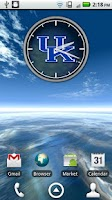 Screenshot of Kentucky Wildcats Clock Widget