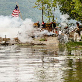 1812 Re-enactment by Nancy Merolle - News & Events Entertainment ( costumes, battle, event, attack on fort cassin, re-enactment, 1812, canons, entertainment )