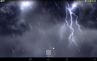 Screenshot of Lightning Storm Live Wallpaper