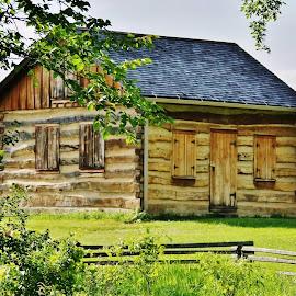 Little House by Lori Kulik - Buildings & Architecture Homes ( historical, architecture, landscape, wood house )