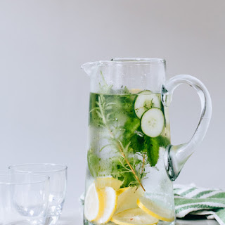 Lemony Herb Cucumber Water