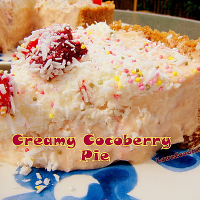 Creamy CocoBerry Pie