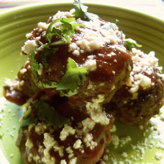 Tex-Mex Meatballs With Chili Gravy