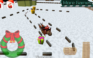 Screenshot of Santa Claus Sleigh Parking 3D