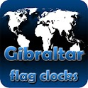 Gibraltar flag clocks icon