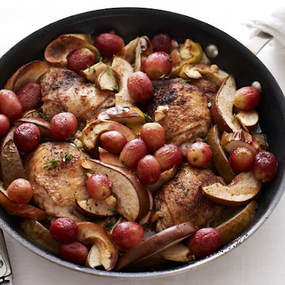 Chicken Thighs with Roasted Winter Fruit
