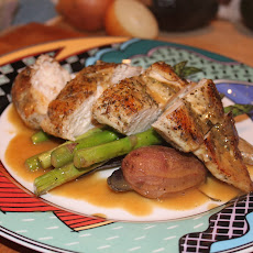 Herbed Chicken with Roasted Asparagus and Fingerlings