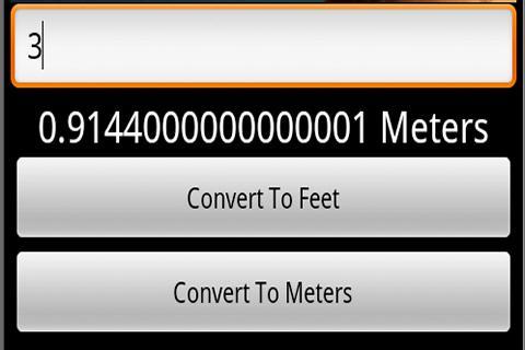 Feet And Meters Converter