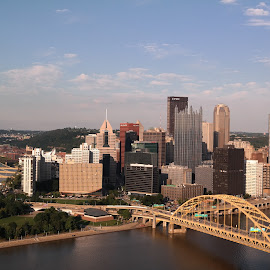 Pittsburgh by Lori Rider - City,  Street & Park  Skylines