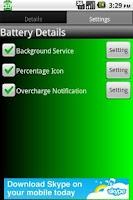Screenshot of Battery Details