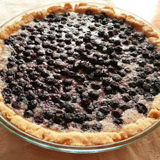 Blueberries and Cream Pie With No Roll Pie Crust