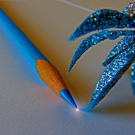 by Kerry  Milligan - Artistic Objects Education Objects ( blue, pencil, object )