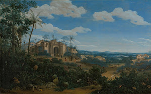RIJKS: Frans Jansz. Post: View of Olinda, Brazil 1662