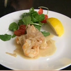 King Prawns With Garlic And White Wine