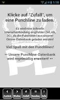 Screenshot of Punchline Sprüche
