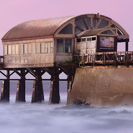 Jetty bar by Natascha Bezuidenhout - Novices Only Landscapes ( spooky, sunset, sea, jetty, bar )