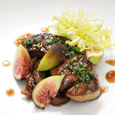 Pan-Seared Foie Gras With Fig Mostarda and Fresh Figs