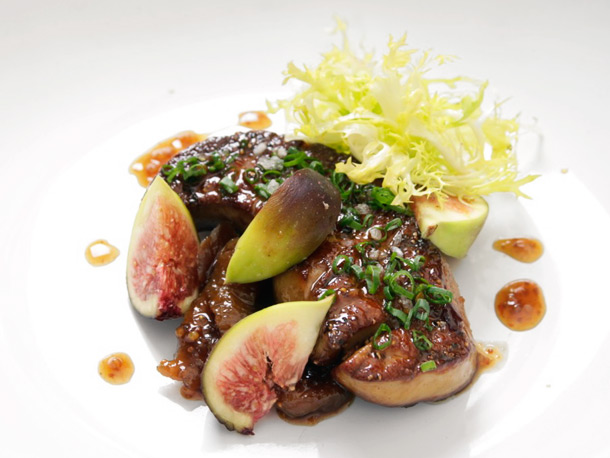 Pan-Seared Foie Gras With Fig Mostarda and Fresh Figs Recipe | Yummly
