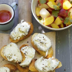 Nectarine Salad With Goat's Cheese Toasts