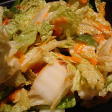 Cabbage Salad With Peanut Dressing (Vegan)