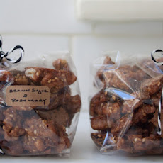 Brown Sugar Rosemary Walnuts