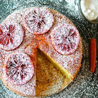 Blood Orange Almond Sponge Cake / Baking with Baylor