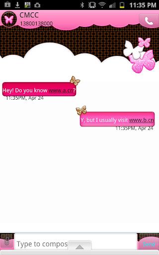 GO SMS - Glitter Butterfly Sky