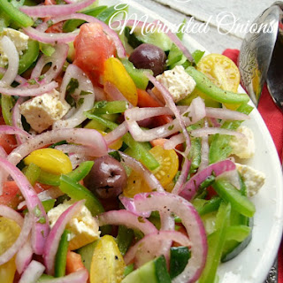Greek Salad with Marinated Onions