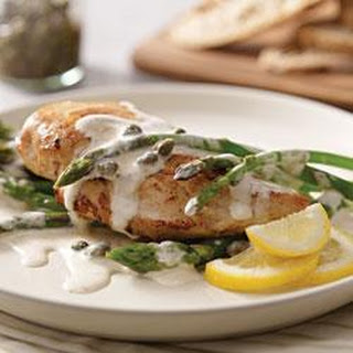 Creamy Chicken Piccata and Asparagus