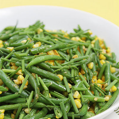 Sautéed Haricots Verts with Fresh Corn and Chives