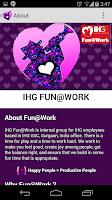 Screenshot of IHG Fun@Work