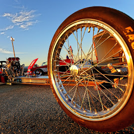 Rail Dragster by Jonathan Abrams - Transportation Automobiles ( car, abstract, sky, wheel, engine, race, drag race, tire )