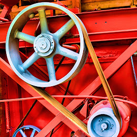 Sawmill in Alaska by Michael Lopes - Buildings & Architecture Other Interior ( vivid image, architectural detail, sawmill, gears and wheels )