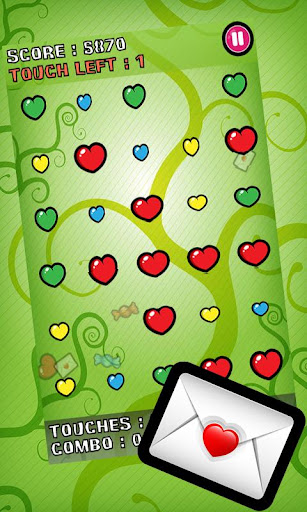 bubble-blast-valentine for android screenshot