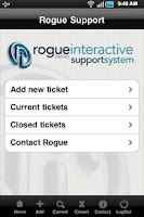 Screenshot of Rogue Support