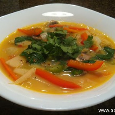 Thai Coconut Vegetarian Soup With Mock Noodles