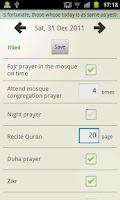 Screenshot of Ibadah Evaluation