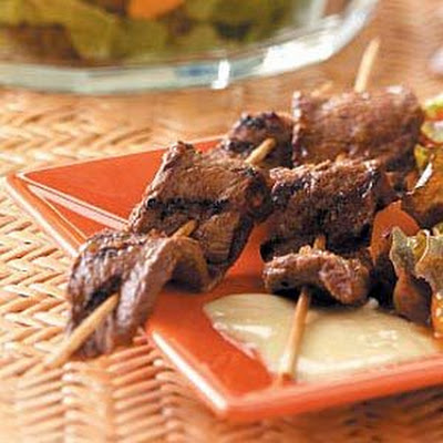 Beef Kabobs with Chutney Sauce