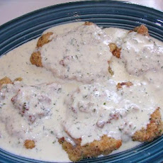 Crusted Baked Chicken With Tarragon Cream Sauce